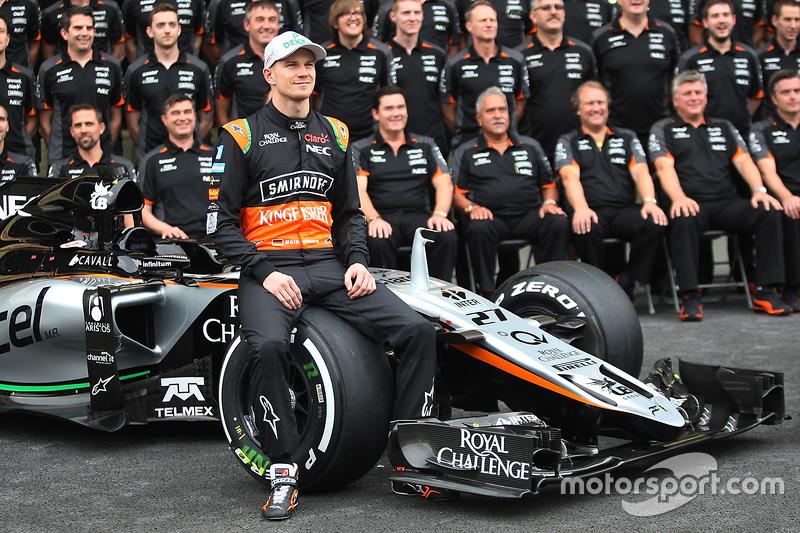 Ніко Хюлкенберг, Sahara Force India F1 на командному фото