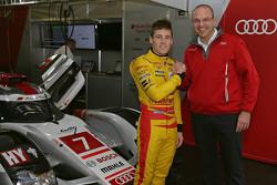 Richie Stanaway mit Chris Reinke, LMP-Leiter bei Audi Sport