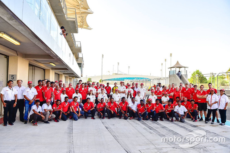 MRF Racing Team group photoshoot