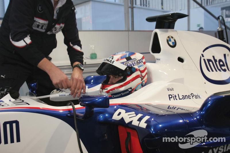 Graham Rahal in the BMW Formula One car
