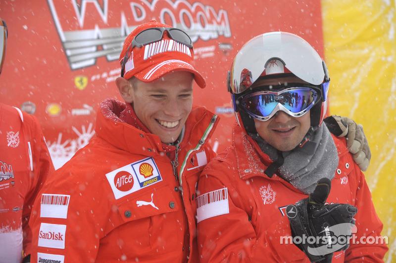 Casey Stoner and Felipe Massa