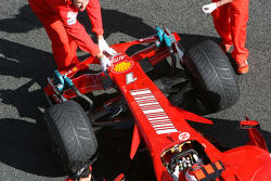 Kimi Raikkonen, Scuderia Ferrari, F2008, detail