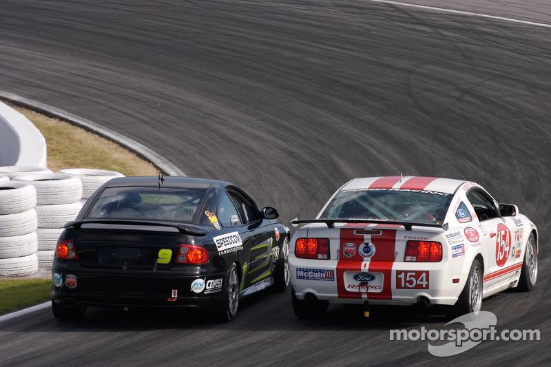 #9 Spirit of Daytona Racing Pontiac GTO: Bryan Collyer, Doug Goad, #154 Jim Click Racing Ford Mustang GT: Jim Click, Mike McGovern