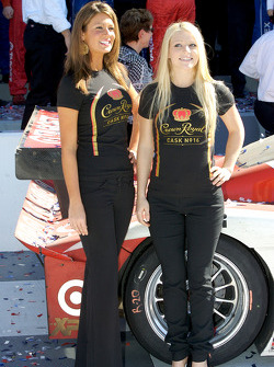Victory lane: the lovely Crown Royal girls