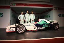 Rubens Barrichello, Honda Racing F1 Team, Alexander Wurz, Test Driver, Honda Racing F1 Team, Jenson Button, Honda Racing F1 Team