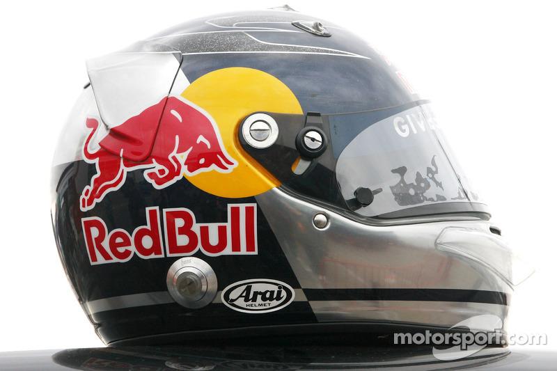 Helmet of Sebastian Vettel, Scuderia Toro Rosso