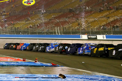 Rain forced the Auto Club 500 to be halted at lap 87 at Auto Club Speedway
