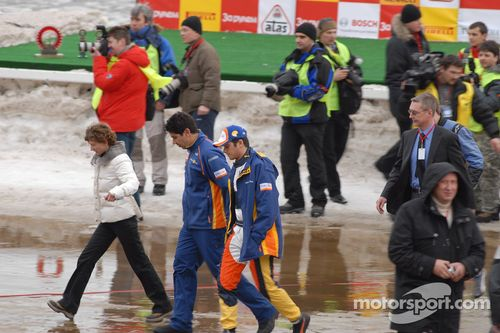 Nelson A. Piquet visits The Race of Stars, Moscow, Russia