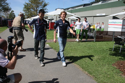 Kazuki Nakajima, Williams F1 Team and Nico Rosberg, WilliamsF1 Team