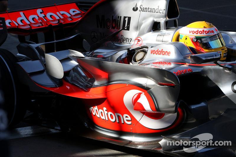 Lewis Hamilton, McLaren Mercedes, MP4-23, sidepod