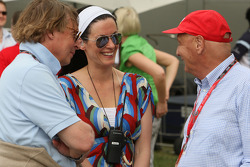 Tanja Bauer, Niki Lauda, Former F1 world champion and RTL TV