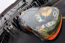 Rain on Martin Truex Jr.'s car