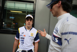 Fernando Alonso, Renault F1 Team and Robert Kubica,  BMW Sauber F1 Team  / Drivers group picture 2008