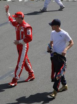 Kimi Raikkonen, Scuderia Ferrari, Sebastian Vettel, Scuderia Toro Rosso  / Drivers group picture 2008