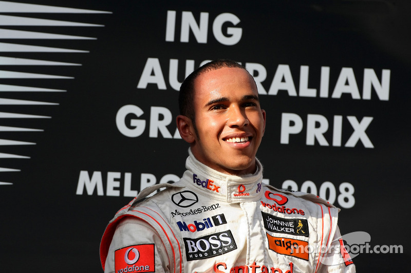 Lewis Hamilton (McLaren), ganador GP Australia 2008