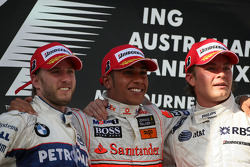 Lewis Hamilton, McLaren Mercedes, Nick Heidfeld, BMW Sauber F1 Team, Nico Rosberg, WilliamsF1 Team