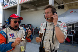 Audi crew member and ALMS official Dick Martin enjoy an ice crea