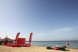 The scene for the Vodafone Beach Kayak Challenge