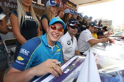 Fiesta en la ciudad de Puebla con pilotos y equipos. Robert Huff, Chevrolet, Chevrolet Lacetti
