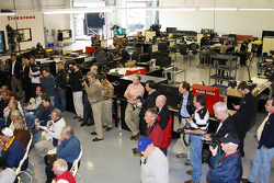 Media touring the Roth Racing shop in Indianapolis