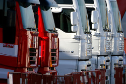 BMW Sauber F1 Team trucks
