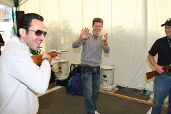 Honda Welcome Party: Helio Castroneves and Ryan Briscoe
