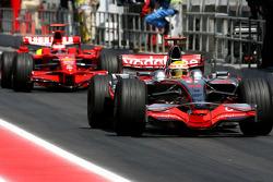 Lewis Hamilton, McLaren Mercedes, Kimi Raikkonen, Scuderia Ferrari