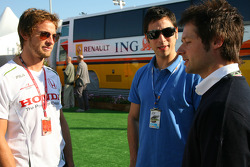 Jenson Button, Honda Racing F1 Team and Andy Priaulx, BMW WTCC