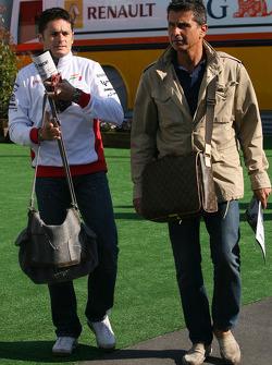 Giancarlo Fisichella, Force India F1 Team and Enrico Zanarini, Manager of Giancarlo Fisichella