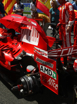 Ferrari on the grid