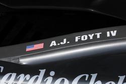 A.J. Foyt IV's headrest