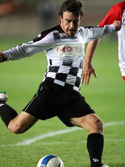 Football match Nazionale Piloti vs All Stars Team in Stadium of Galatasaray, Istanbul: Fernando Alonso, Renault F1 Team