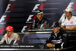FIA press conference: Heikki Kovalainen, McLaren Mercedes, Robert Kubica, BMW Sauber F1 Team, Kazuki Nakajima, Williams F1 Team, Jenson Button, Honda Racing F1 Team