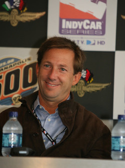 John Andretti during a press conference