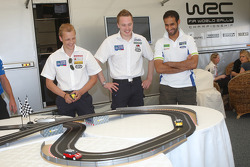 Mikko Hirvonen, Jari-Matti Latvala and Khalid Al Qassimi scored a convincing 3-0 win at the Scalextrix Challenge