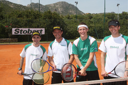 Gianluigi Galli, Giovanni Bernacchini, Matthew Wilson and Scott Martin play tennis