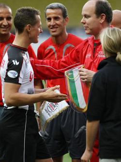 Michael Schumacher, Test Driver, Scuderia Ferrari and Prince Albert II of Monaco