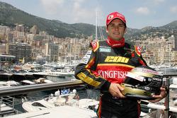 Giancarlo Fisichella, Force India F1 Team, feiert seinen 200. Grand Prix