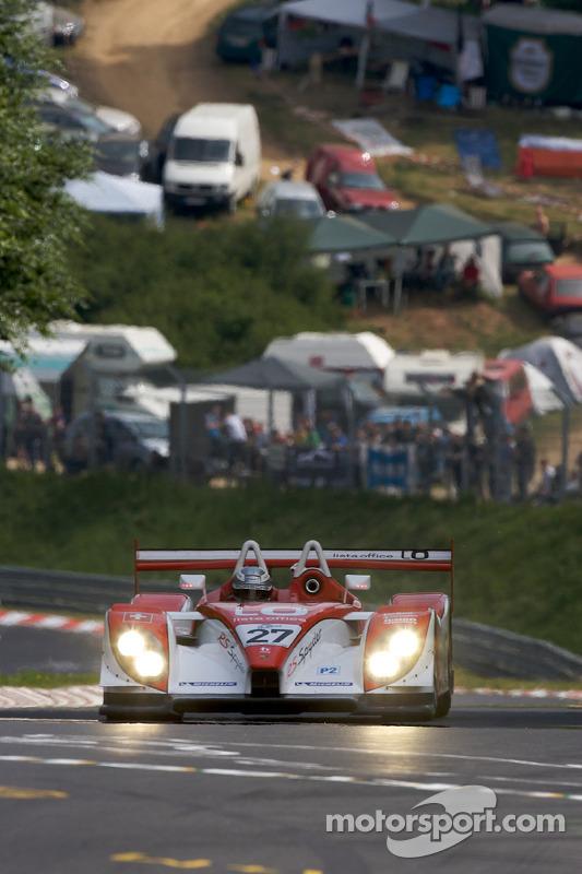 Romain Dumas mit Demorunden im Porsche RS Spyder auf der legendären Nordschleife