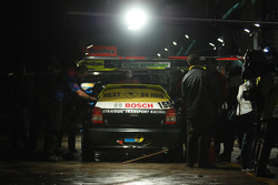 Pitstop for #155 Mitsubishi Mirage RS: Malcolm Niall, Brett Niall, Clint Harvey, Mark Pilath
