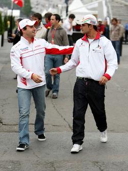 Timo Glock, Toyota F1 Team, Vitantonio Liuzzi, Test Driver, Force India F1 Team