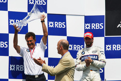 Podium: Dr. Mario Theissen and Nick Heidfeld