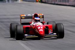Frits van Eerd on a demonstration run with Jean Alesi's former 1993 Ferrari