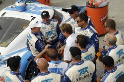 The #1 Chip Ganassi with Felix Sabates Lexus Riley crew and Scott Pruett celebrate