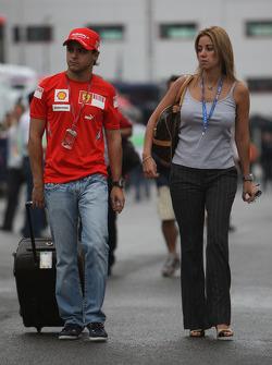 Felipe Massa, Scuderia Ferrari with Rafaela Bassi, Girl Friend, Wife of Felipe Massa