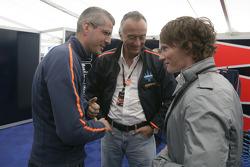 Trident Racing Team Principals, Maurizio Salvadori, Alessandro Alunni Bravi with Mike Conway