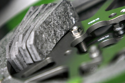 Carbon discs and pads from Kawasaki's Ninja ZX-RR MotoGP machine