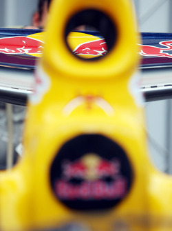 a detail of The Red Bull Racing showcar
