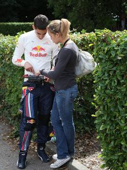 Sebastian Buemi Red Bull Racing, with his girlfriend