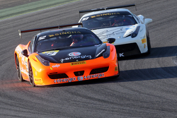 #52 CDP Ferrari 458: Renato di Amato and #93 Foitek Racing Ferrari: Nicolas Sturzinger